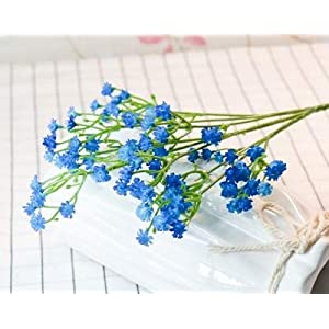 80 Mini Heads 1PC DIY Artificial Baby's Breath Flower Gypsophila Fake Silicone Plant for Wedding Home Party Decorations 8 Colors 22