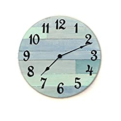 Rustic Beach Wall Clock - 16 diameter with Arabic numbers - handmade beach wall clock, nautical theme clock, beach house clock, beach house decor, coastal cottage