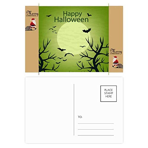 Green Tree Happy Ghost Fear Halloween Santa Claus Gift Postcard Thanks Card Mailing 20pcs]()