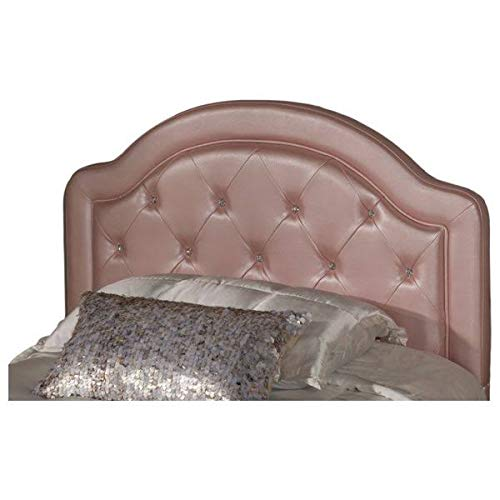 Hillsdale Furniture Embossed Faux Leather Headboard in Pink ()