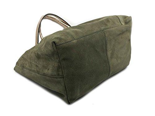 Blu Donna Verde da Borsa MainApps verde Scamosciata TS18GB371 Militare Tosca OYqxHwRnR