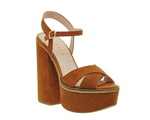 Unbekannt - Zapatos de vestir para mujer Rostfarbenes Wildleder
