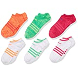 adidas Girl's Superlite No Show Socks (Pack of 6)