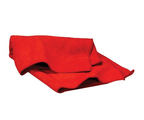 WAXIE Red Microfiber Cleaning Cloth 16 X 16 (Case of 180) by Waxie