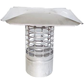 The Forever Cap CCSS6R 6-Inch Stainless Steel Slip in Round Chimney Cap