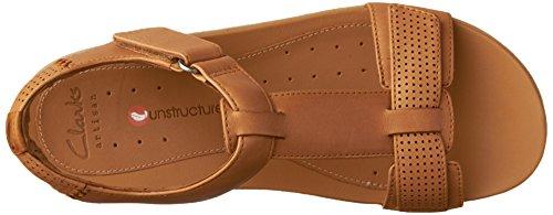 Haywood Sandals Tan Clarks Flat Leather Light Un Women's Sq7EwA61Zn