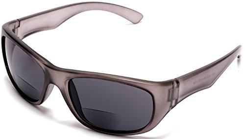 Samba Shades Brando Brenda Sports Bi-Focal Sun Readers Outdoor Comfort Sunglasses Matte Gray - No Reading Sunglasses Bifocal Line