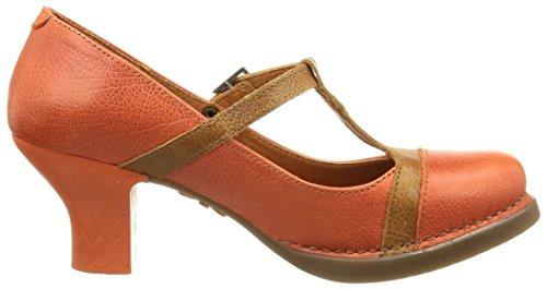 Art 925, Zapatos Mary Jane Rojo (Coral)