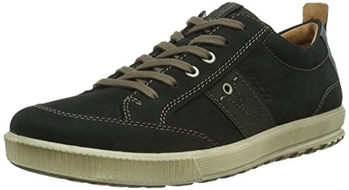 Ecco ECCO ENNIO - Zapatillas de cuero para hombre negro - Schwarz (BLACK/BLACK 51052)