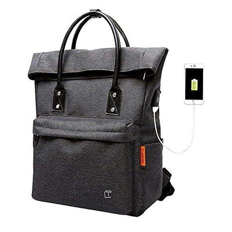 b9aa3e1639339e Zaino Antifurto Zaino PC Portatile Roll-Top Impermeabile Backpack Casual  Zaino in Nylon Daypack Elegante