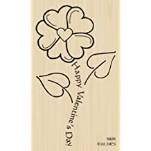 Valentine Flower Rubber Stamp By DRS Designs