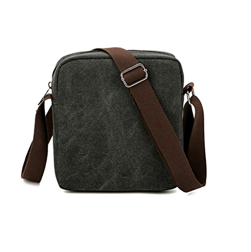 Super moderno hombres bolso bandolera Vintage de Lona Pequeño Cruz cuerpo bolsa Pack organizador bolso bandolera bolsa Mini bandolera multibolsillos hombro bolsa, hombre, verde negro