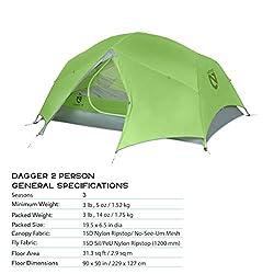 Nemo Dagger Ultralight Backpacking Tent, 2 Person