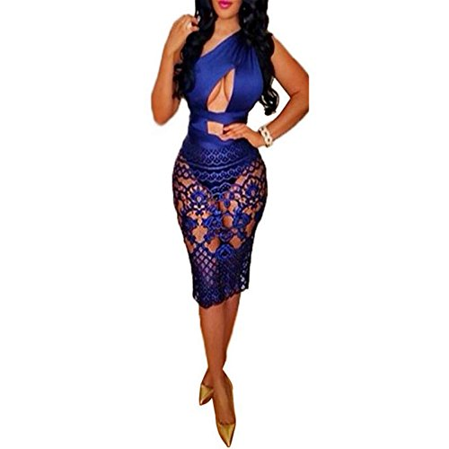 Woosen New Club Sexy Summer Lace Dress Pencil Skirt