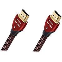 AudioQuest Cinnamon 1.5m (4.92 ft) Black/Red HDMI Cable (2-Pack Bundle)
