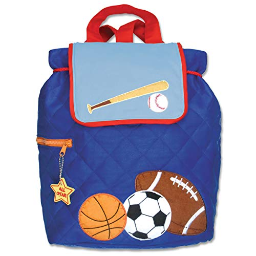 - Stephen Joseph Quilted Backpack, Blue Sports