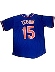 Autographed Tim Tebow Jersey - Mets Alternate - JSA Certified - Autographed NFL Jerseys