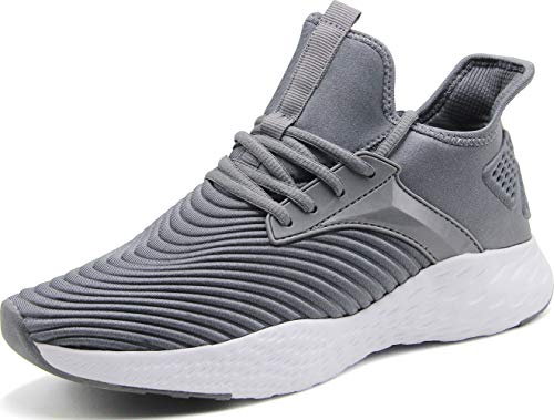 Weweya Running Shoes Men Athletic Gym Casual Walking Shoes Dark Grey 9 M US Tennis & Racquet Sports Shoes Fitness & Cross-Training Shoes Cycling Road Running -