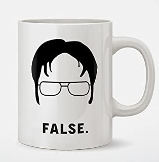 office coffee cups. dwight schrute false funny coffee mug office cups m