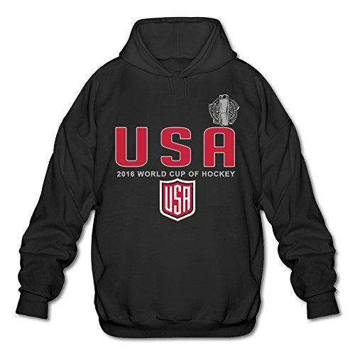 ALIMN Men's US Hockey World Cup Of Hockey 2016 Pride Hoodie Black