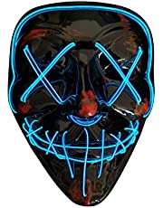 SOUTHSKY NEW V Vendetta mask with Fashion shining ,Fluorescent green light for party