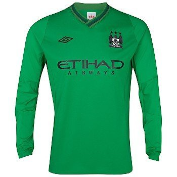 wholesale dealer 6493c 68097 2012-13 Manchester City Home Goalkeeper Kit Jersey Men's ...