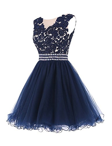 Junior Cdress Ballo Cocktail Breve A Tulle Da Turchese Applique Abiti Abito Beded Casa Ritorno Da Abiti qpwxtzqFB