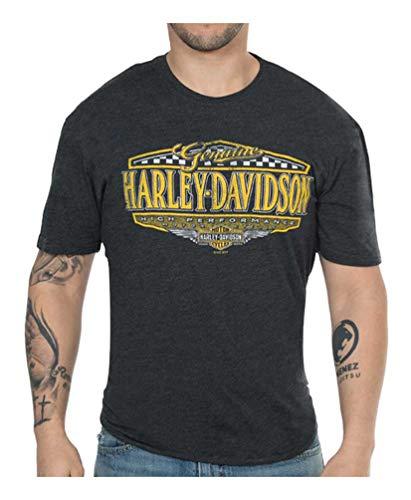 - Harley-Davidson Men's High Performance Rival Short Sleeve Crew Shirt - Black (L)