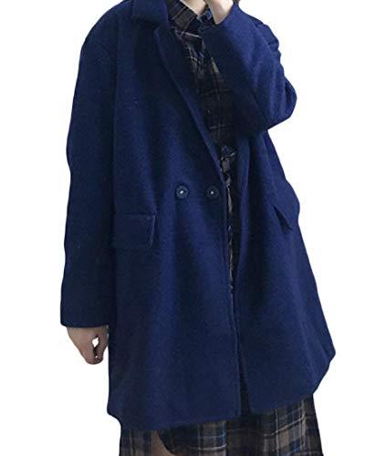 Button Collar Winter Slim Fall One XINHEO blue Turn Navy Jacket Down Women Fit Coat 5Iwqqx0z