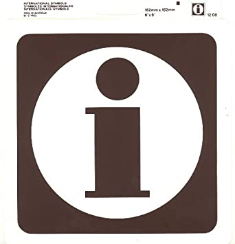 Information Sign Styrox International Symbol Sign 152 X 152 Mm