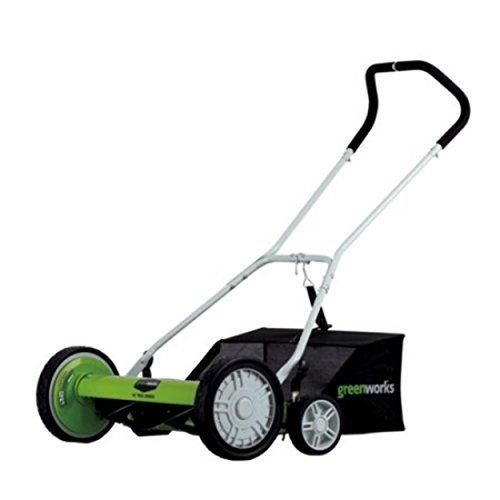 Adjustable + Durable 5-Blade Hand Reel Mower 18'' by Greenworks25062