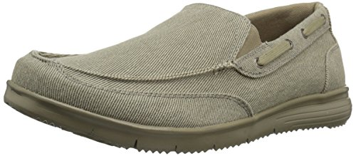 Propet Men's Sawyer Boating Shoe, Tan, 8.5 3E US