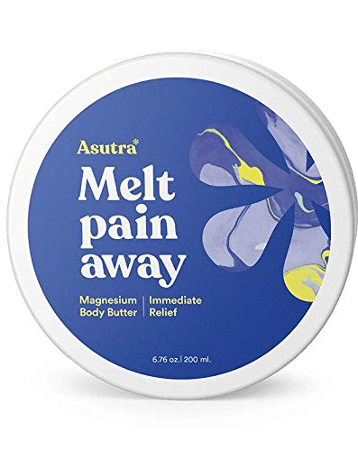 Asutra, Melt Pain Away, Magnesium Body Butter, Helps Relieve Joint Pain, Stress Relief, Anxiety Relief, Made with Soothing Magnesium Oil and Calming Lemongrass to Promote Healthy Sleep ()