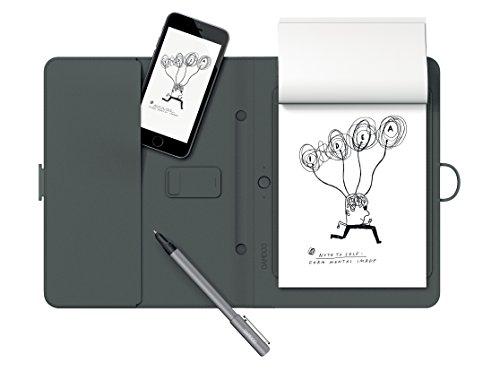 Wacom CDS600G Bamboo Spark Smart Folio (Gerätefach) mit DIN A5-Block, schwarz
