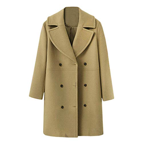 NEEDRA Trench Coat Ladies Teenage Girls Warm Winter Coat Outwear Women Button Jacket Boucle Coat Beige