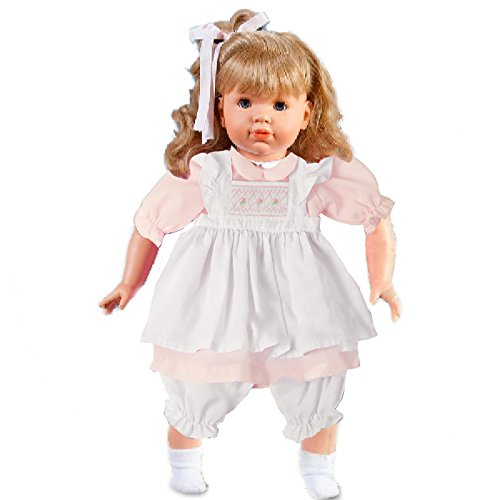 - Rosalina Morgan Blonde Doll with Pink Pongee Dress & Smocked White Pinafore, 18