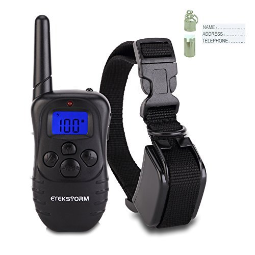 PetAZ Dog Training Collar With Remote Rechargeable & Waterproof LCD Screen 330 Yard Beep/Vibration/Shock Electric Train Collars For Small,Medium,Large Pets&Dogs by PetAZ (Image #1)