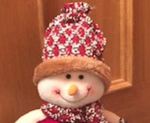 Wheels N Bits Pupazzo di Neve di Natale Natale Fantasia Decorazione Fermaporta Tappo 30cm 12 Pollici 1.1KG Pouf Base Pupazzo di Neve