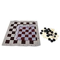 Baoblaze ポータブル 国際チェッカー ボードゲーム チェスゲームの商品画像