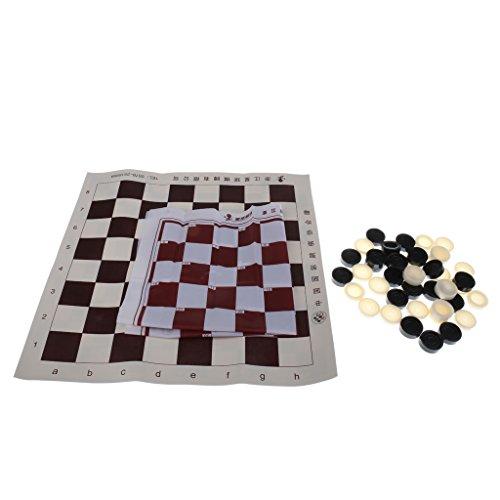 Baoblaze ポータブル 国際チェッカー ボードゲーム チェスゲーム