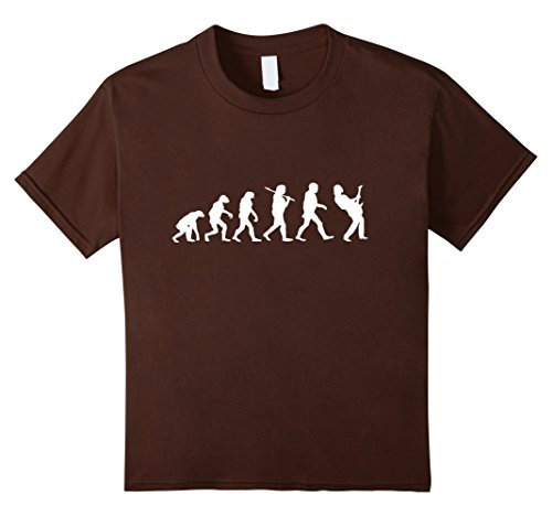 Kids Bass Guitar Shirt-Guitar Evolution Shirt 10 Brown