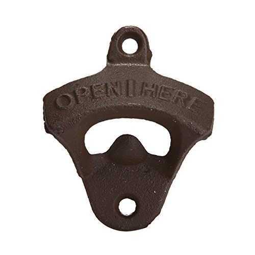 Leegoal Rustic Cast Iron OPEN HERE Bottle Opener Vintage Style Wall Mount Man Cave Review
