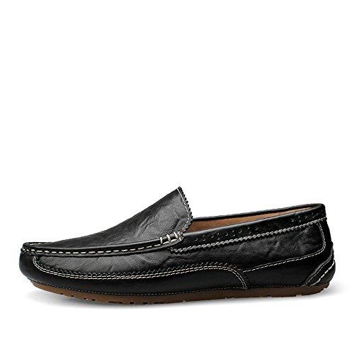 Negro Mocasines Penny Piso Hombres Bare Edge amplios en EU Ofgcfbvxd tamaño para Loafers Ligero Vamp Deslizamiento Tip único Soft 42 Azul Casuales Color Zapatos Driving Wing más qXfxwF67
