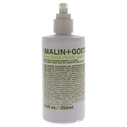 Malin + Goetz Hand + Body Wash, Lime, 8.5 Fl Oz