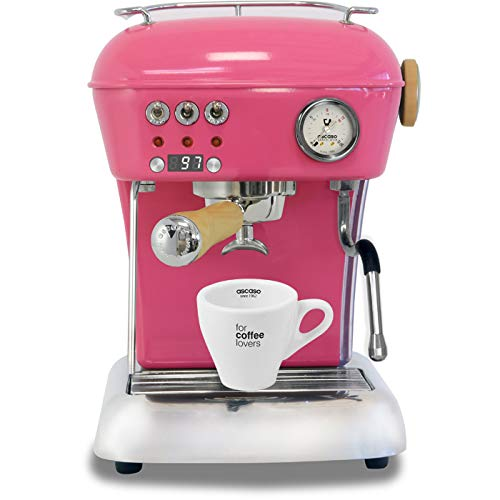 Ascaso Dream Up V3 Strawberry Gum PID Wood Handle Semi-Automatic Espresso Machine - w/Ascaso Cup & Saucer