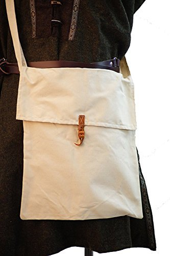 Steampunk--SCA-Cosplay--Re enactment-LARP-Tudor-Archer-Pagan MEDIUM WATER CARRIER / MESSENGER COTTON BAG by CL COSTUMES (Cl Cotton)