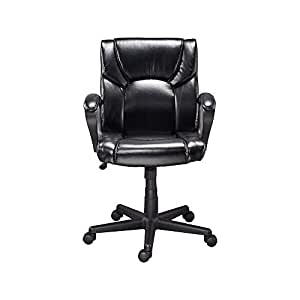 Amazon Com Staples 272067 Montessa Ii Luxura Managers Chair Black Kitchen Amp Dining