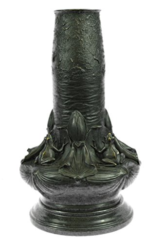 (Handmade European Bronze Sculpture Nude Lady Vase By Augustine Moreau Bronze Statue -3X-EP-666-Decor Collectible Gift)