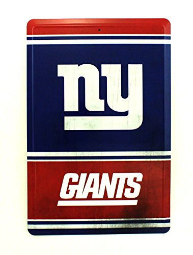 - Pro Specialties Group NFL New York Giants Team Logo Tin Sign, 8 x 12-inches, Blue