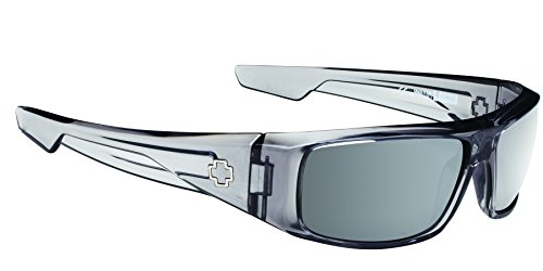 Spy Optic Logan 670939204352 Wrap Sunglasses, 60 mm (Clear Smoke/Happy Gray/Green/Silver - Optic Glasses Spy